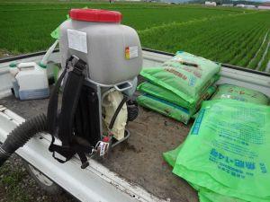 有機肥料追肥です。