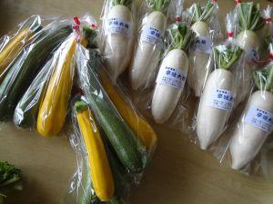直売所に出す野菜