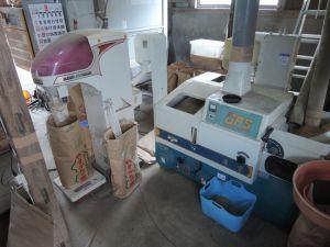 籾すり作業