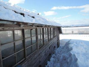 屋根の雪下ろしは3回目