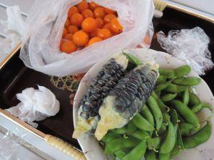 トウモロコシ、枝豆