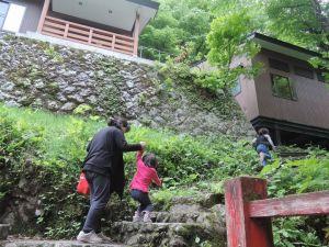 湯ノ沢温泉へ