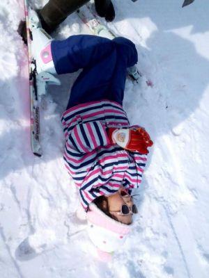スキー練習中